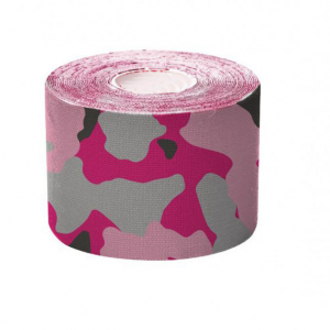Camouflage Pre-cut kinesiology tape pink I-strip roll