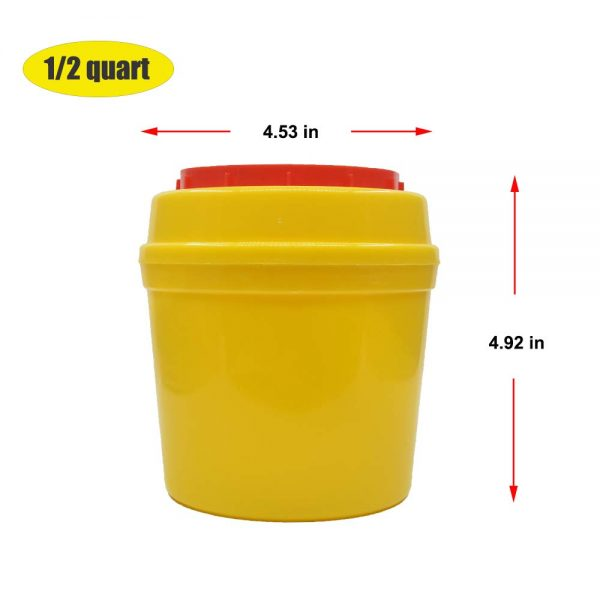 Sharp Needle Disposal Container with Lip 0.5L